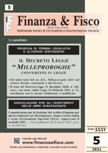 Finanza & Fisco n. 5 del 2021