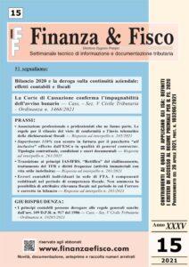Finanza & Fisco n. 15 del 2021