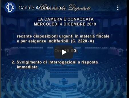 In aula della camera dei deputati l esame del decreto in for Diretta dalla camera dei deputati