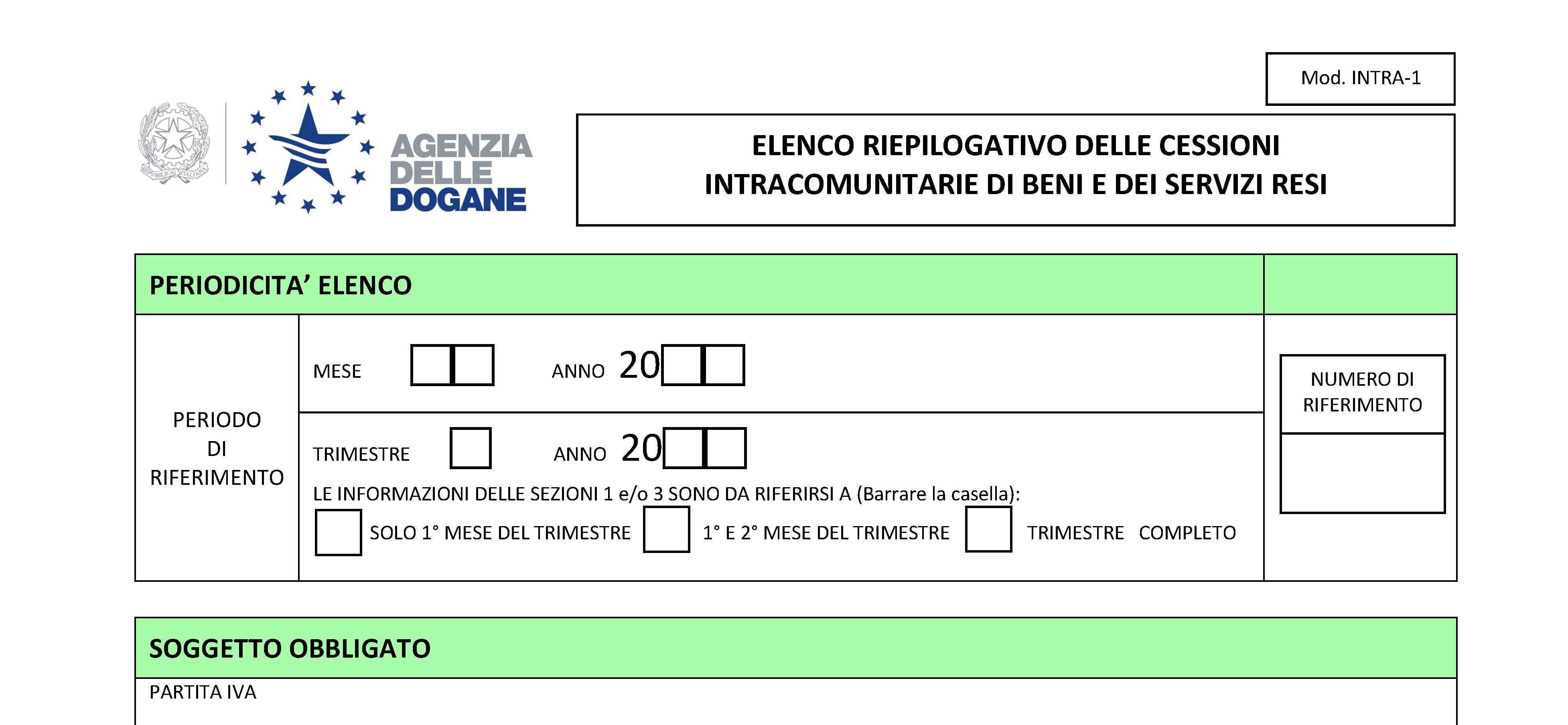 Modello intrastat 2016 scadenza istruzioni compilazione for Scadenza redditi 2017
